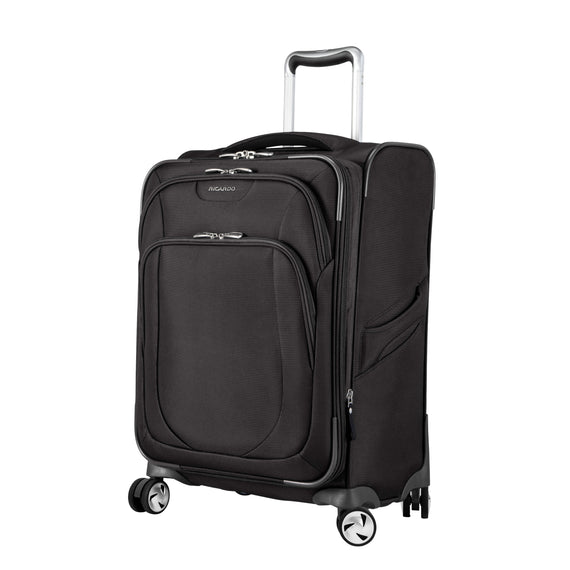Carry-On Seahaven 20-Inch Carry-On Suitcase in Black Quarter Front View in  in Color:Black in  in Description:Angled View
