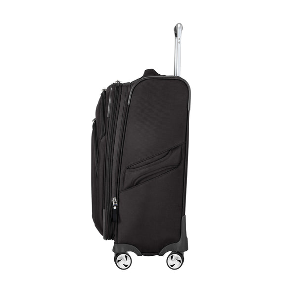 Carry-On Seahaven 20-Inch Carry-On Suitcase in Black Side View in  in Color:Black in  in Description:Side