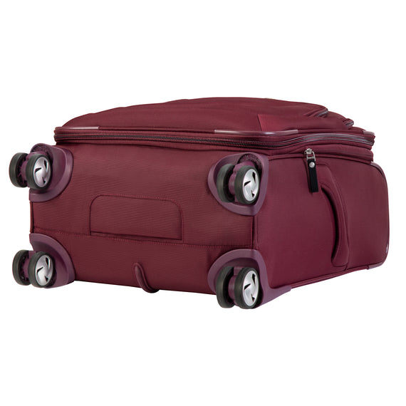 Carry-On Seahaven 20-Inch Carry-On Suitcase in Currant Bottom View in  in Color:Currant in  in Description:Bottom
