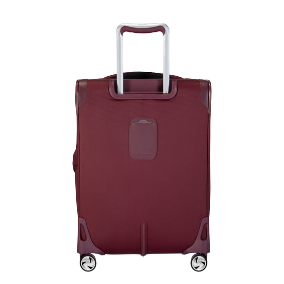 Carry-On Seahaven 20-Inch Carry-On Suitcase in Currant Back View in  in Color:Currant in  in Description:Back