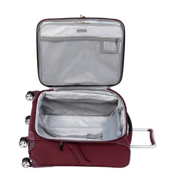 Carry-On Seahaven 20-Inch Carry-On Suitcase in Currant Open View in  in Color:Currant in  in Description:Opened