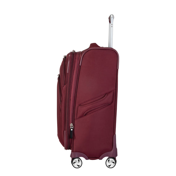 Carry-On Seahaven 20-Inch Carry-On Suitcase in Currant Side View in  in Color:Currant in  in Description:Side