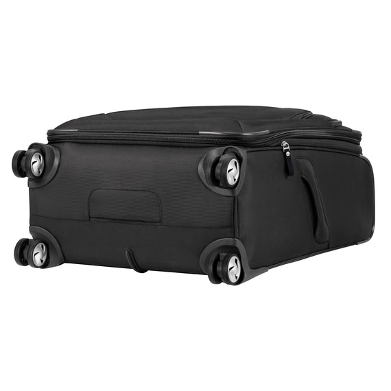 Medium Check-In Seahaven 25-inch Check-In Suitcase in Black Bottom View in  in Color:Black in  in Description:Bottom