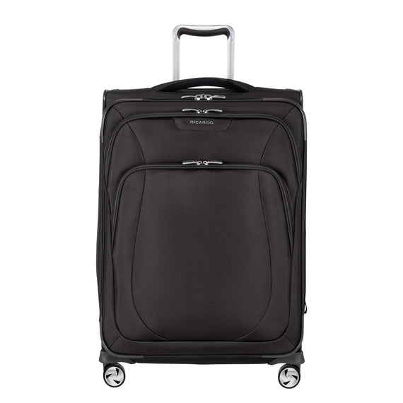 Medium Check-In Seahaven 25-inch Check-In Suitcase in Black Front View in  in Color:Black in  in Description:Front