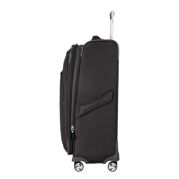 Medium Check-In Seahaven 25-inch Check-In Suitcase in Black Side View in  in Color:Black in  in Description:Side