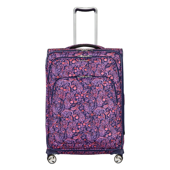 Medium Check-In Seahaven 25-inch Check-In Suitcase in Pink Paisley Front View in  in Color:Paisley Pink in  in Description:Front