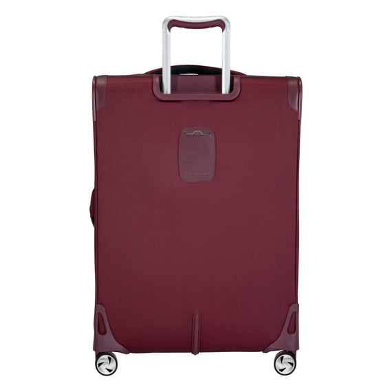 Medium Check-In Seahaven 25-inch Check-In Suitcase in Currant Back View in  in Color:Currant in  in Description:Back