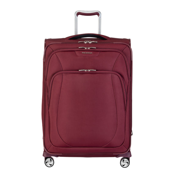 Medium Check-In Seahaven 25-inch Check-In Suitcase in Currant Front View in  in Color:Currant in  in Description:Front