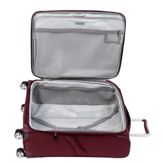 Medium Check-In Seahaven 25-inch Check-In Suitcase in Currant Open View in  in Color:Currant in  in Description:Opened