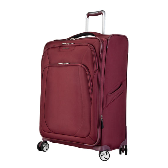 Medium Check-In Seahaven 25-inch Check-In Suitcase in Currant Quarter Front View in  in Color:Currant in  in Description:Angled View