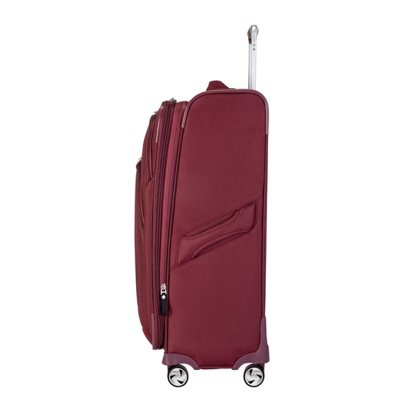 Medium Check-In Seahaven 25-inch Check-In Suitcase in Currant Side View in  in Color:Currant in  in Description:Side