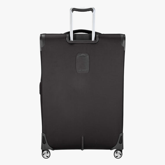 Large Check-in Seahaven 29-inch Check-In Suitcase in Black Back View in  in Color:Black in  in Description:Back