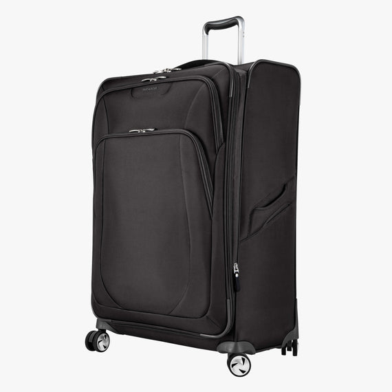 Large Check-in Seahaven 29-inch Check-In Suitcase in Black Quarter Front View in  in Color:Black in  in Description:Angled View