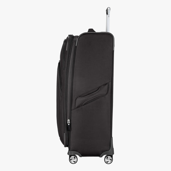 Large Check-in Seahaven 29-inch Check-In Suitcase in Black Side View in  in Color:Black in  in Description:Side