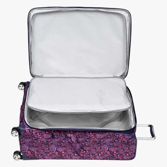 Large Check-in Seahaven 29-inch Check-In Suitcase in Pink Paisley Extra Open View in  in Color:Paisley Pink in  in Description:Extra Open View