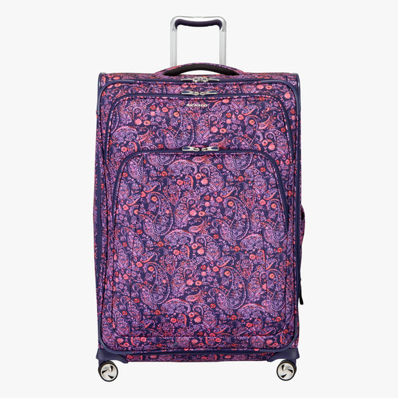 Large Check-in Seahaven 29-inch Check-In Suitcase in Pink Paisley Front View in  in Color:Paisley Pink in  in Description:Front