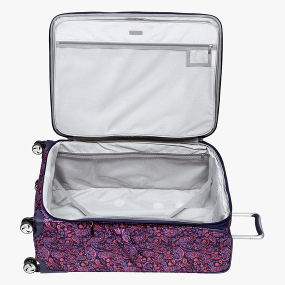 Large Check-in Seahaven 29-inch Check-In Suitcase in Pink Paisley Opened View in  in Color:Paisley Pink in  in Description:Opened