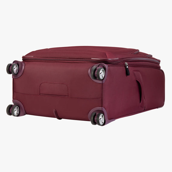 Large Check-in Seahaven 29-inch Check-In Suitcase in Currant Bottom View in  in Color:Currant in  in Description:Bottom