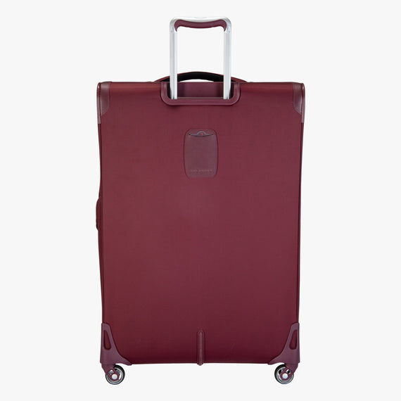 Large Check-in Seahaven 29-inch Check-In Suitcase in Currant Back View in  in Color:Currant in  in Description:Back