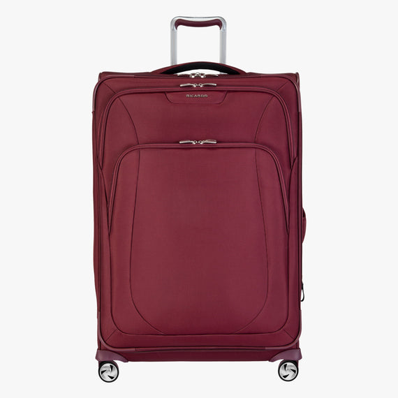 Large Check-in Seahaven 29-inch Check-In Suitcase in Currant Front View in  in Color:Currant in  in Description:Front