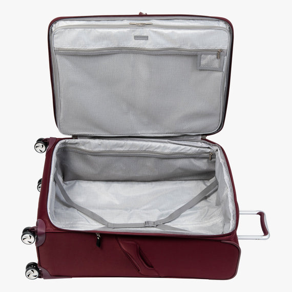 Large Check-in Seahaven 29-inch Check-In Suitcase in Currant Open View in  in Color:Currant in  in Description:Opened