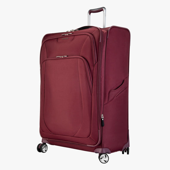 Large Check-in Seahaven 29-inch Check-In Suitcase in Currant Quarter Front View in  in Color:Currant in  in Description:Angled View