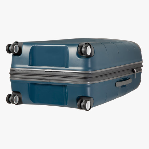 Large Check-In Mendocino 28-inch Check-in Suitcase in Blue Depths Bottom View in  in Color:Blue Depths in  in Description:Bottom