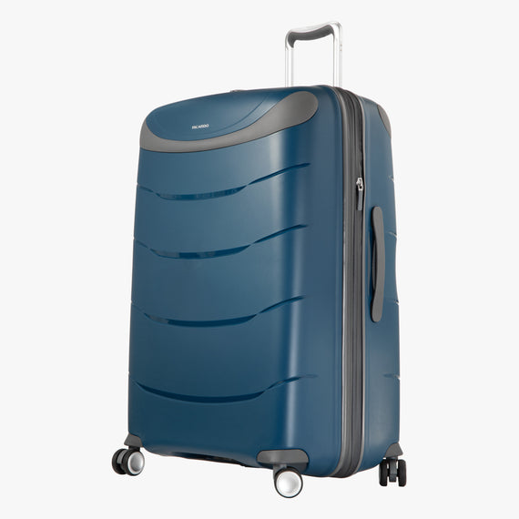Large Check-In Mendocino 28-inch Check-in Suitcase in Blue Depths Angled View in  in Color:Blue Depths in  in Description:Angled View