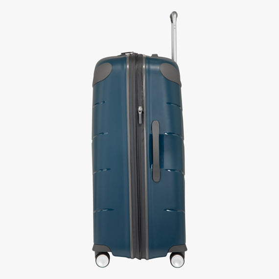 Large Check-In Mendocino 28-inch Check-in Suitcase in Blue Depths Side View in  in Color:Blue Depths in  in Description:Side
