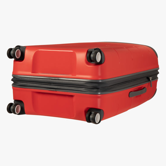 Large Check-In Mendocino 28-inch Check-in Suitcase in Fiery Red Bottom View in  in Color:Fiery Red in  in Description:Bottom