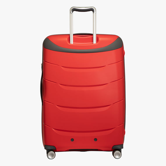 Large Check-In Mendocino 28-inch Check-in Suitcase in Fiery Red Back View in  in Color:Fiery Red in  in Description:Back