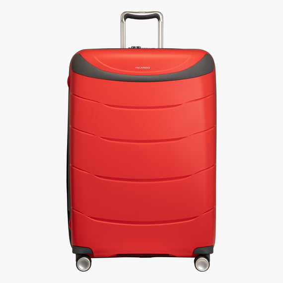 Large Check-In Mendocino 28-inch Check-in Suitcase in Fiery Red Front View in  in Color:Fiery Red in  in Description:Front