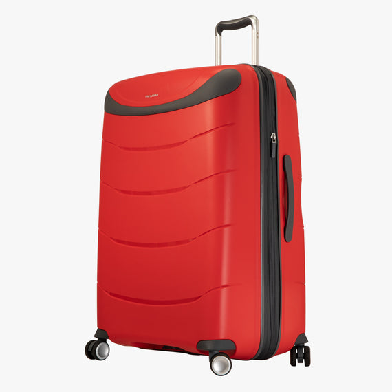 Large Check-In Mendocino 28-inch Check-in Suitcase in Fiery Red Angled View in  in Color:Fiery Red in  in Description:Angled View
