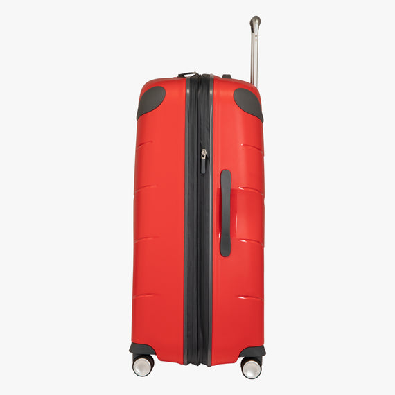 Large Check-In Mendocino 28-inch Check-in Suitcase in Fiery Red Side View in  in Color:Fiery Red in  in Description:Side
