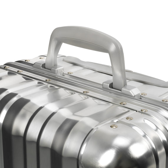 Carry-On Aileron Spinner Carry-On - 20-inch in Silver Carry Handle in  in Color:Silver in  in Description:Handle Detail