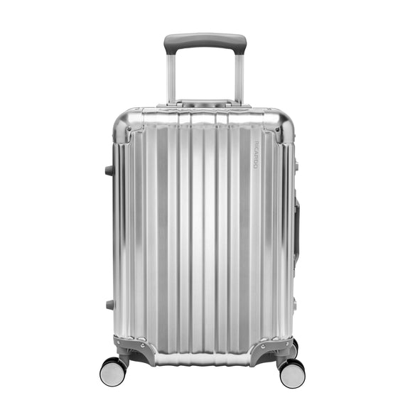 Carry-On Aileron Spinner Carry-On - 20-inch in Silver Front View in  in Color:Silver in  in Description:Front