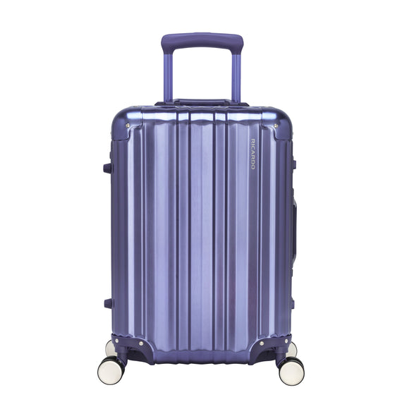 Carry-On Aileron Spinner Carry-On - 20-inch in Blue Front View in  in Color:Blue in  in Description:Front