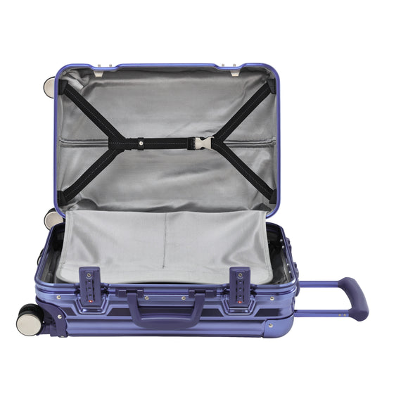 Carry-On Aileron Spinner Carry-On - 20-inch in Blue Alternate Open View in  in Color:Blue in  in Description:Open Detail