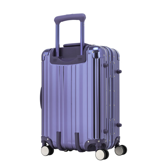 Carry-On Aileron Spinner Carry-On - 20-inch in Blue Back Quarter View in  in Color:Blue in  in Description:Back Angle