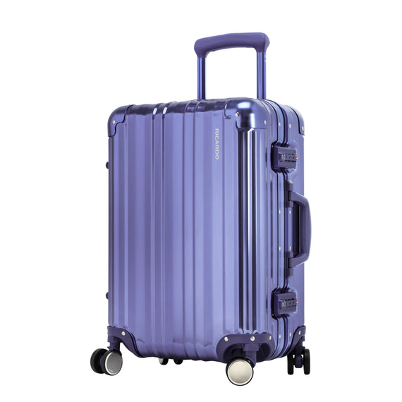 Carry-On Aileron Spinner Carry-On - 20-inch in Blue Front Quarter View in  in Color:Blue in  in Description:Angled View