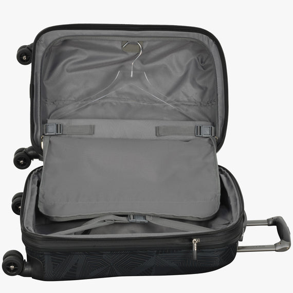 Carry-On Spectrum Carry-On Spinner luggage - 20-inch in Black Alternate Open View in  in Color:Black in  in Description:Open Detail