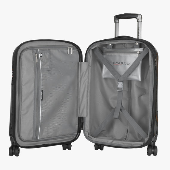 Carry-On Spectrum Carry-On Spinner luggage - 20-inch in Black Open View in  in Color:Black in  in Description:Opened