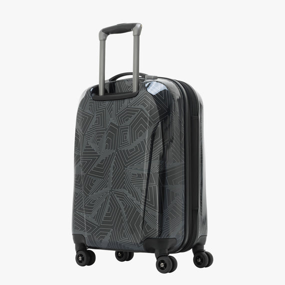 Carry-On Spectrum Carry-On Spinner luggage - 20-inch in Black Back Quarter View in  in Color:Black in  in Description:Back Angle