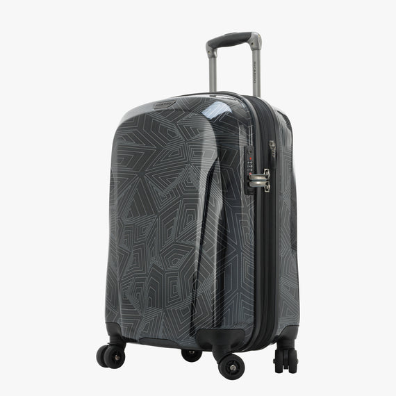 Carry-On Spectrum Carry-On Spinner luggage - 20-inch in Black Front Quarter View in  in Color:Black in  in Description:Angled View