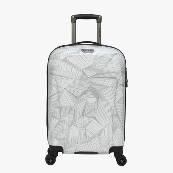 Carry-On Spectrum Carry-On Spinner luggage - 20-inch in White Front View in  in Color:White in  in Description:Front