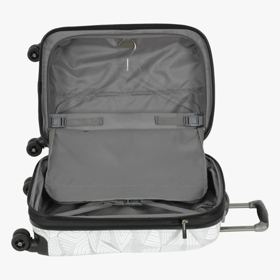 Carry-On Spectrum Carry-On Spinner luggage - 20-inch in White Alternate Open View in  in Color:White in  in Description:Open Detail