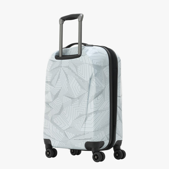 Carry-On Spectrum Carry-On Spinner luggage - 20-inch in White Back Quarter View in  in Color:White in  in Description:Back Angle