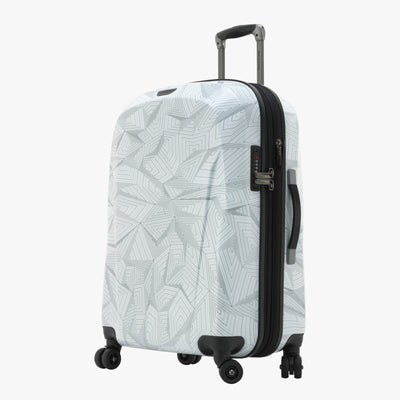 Spectrum Spinner Luggage - 24-inch in White Front Quarter View~~Color:White~~Description:Angled View
