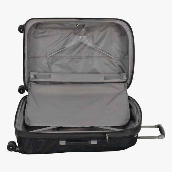 Large Check-In Spectrum Spinner Luggage - 28-inch in Black Alternate Open View in  in Color:Black in  in Description:Open Detail