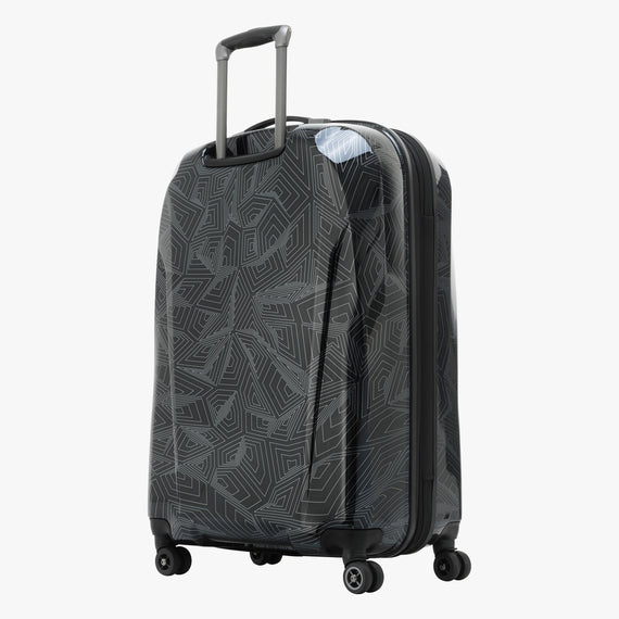 Large Check-In Spectrum Spinner Luggage - 28-inch in Black Back Quarter View in  in Color:Black in  in Description:Back Angle